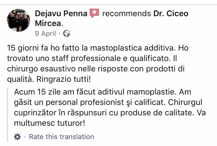recomandari clinica chirurgie estetica Cluj